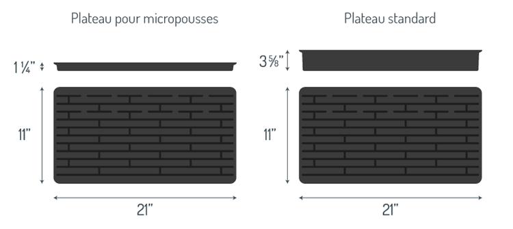 plateau culture micropousses et plateau standard